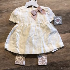 Other - NWT 3/6 Month Dress and Legging Set